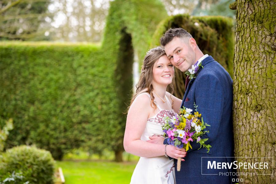 bride and groom gardens