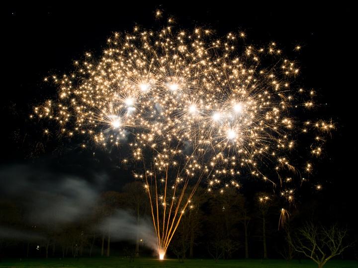 shottle Hall firework display