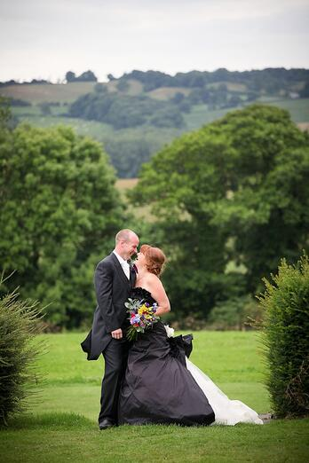 Chloe and John fell in love with Shottle Hall's rustic location and fabulous scenery