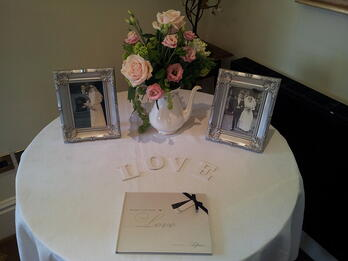 Rachel and Karl added lots of personal touches