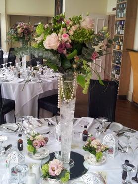 A former florist, Rachel's centrepieces were stunning