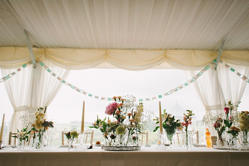 Decorations in the marquee