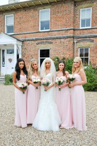 Brogan's bridesmaids wore Ted Baker dresses