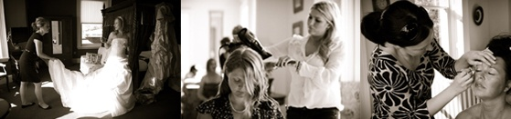 The bridal ambassadors having hair and make-up applied