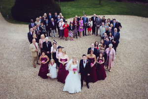 Wedding Guests in heart shape