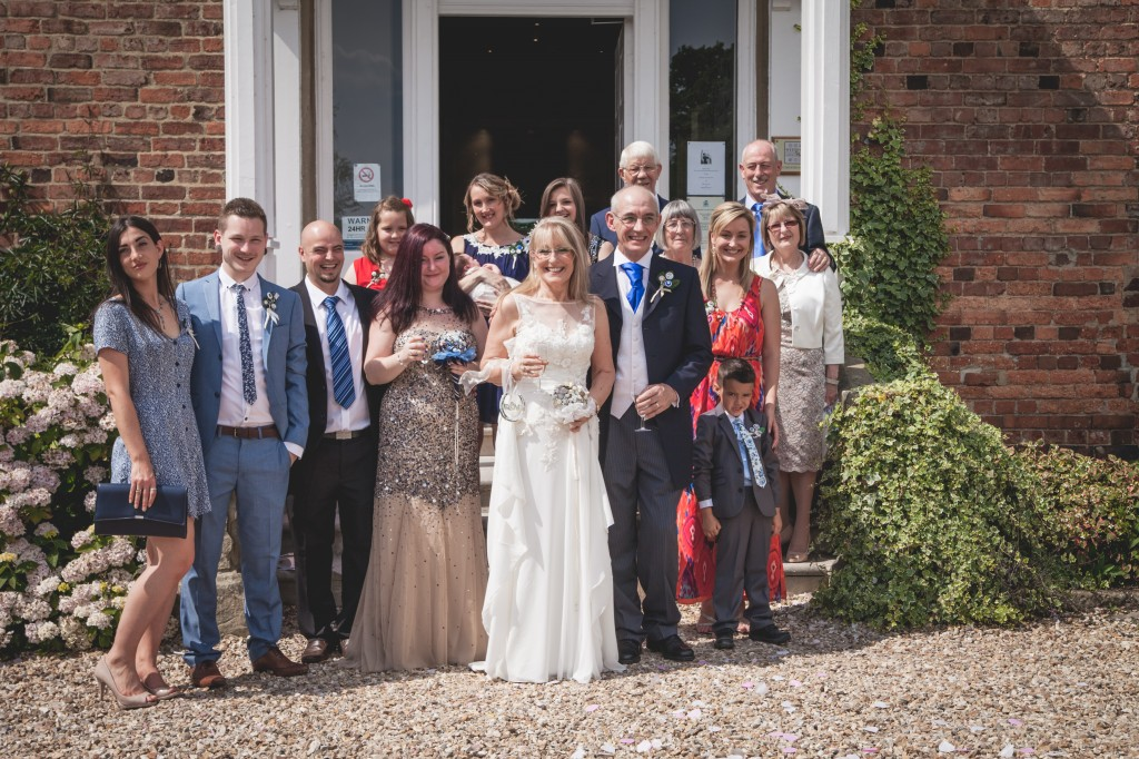 Members of the family and the Bridal party.