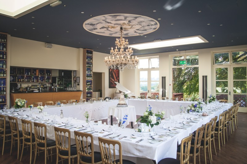 The Orangery set for the Wedding Breakfast