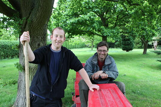 Groundsmen Dan and Stuart have been hard at work in the garden