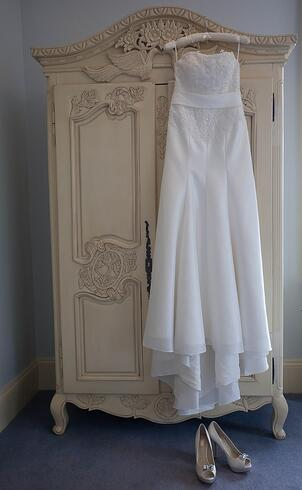 Rachel's beautiful dress from The Bridal Lounge