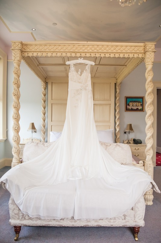 Hilary's Beautiful Wedding Dress in the Rococo Room
