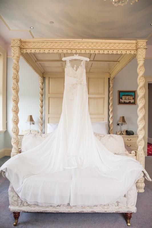Hilary's Beautiful Wedding Dress in the Rococo Room