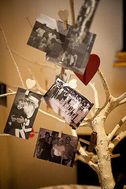 Laura put family photos on her 'wishing tree'.