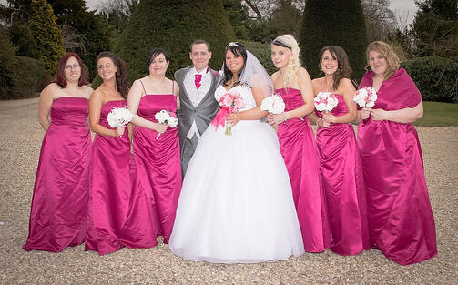 Emma and her six bridesmaids