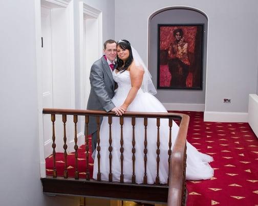 Matt and Emma inside Shottle Hall