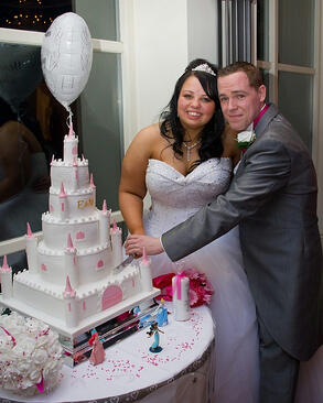 The cake looked like a Disney Princess castle
