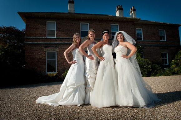 our four lovely bridal ambassadors at Shottle Hall