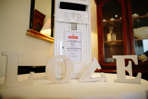 A postbox for wedding cards