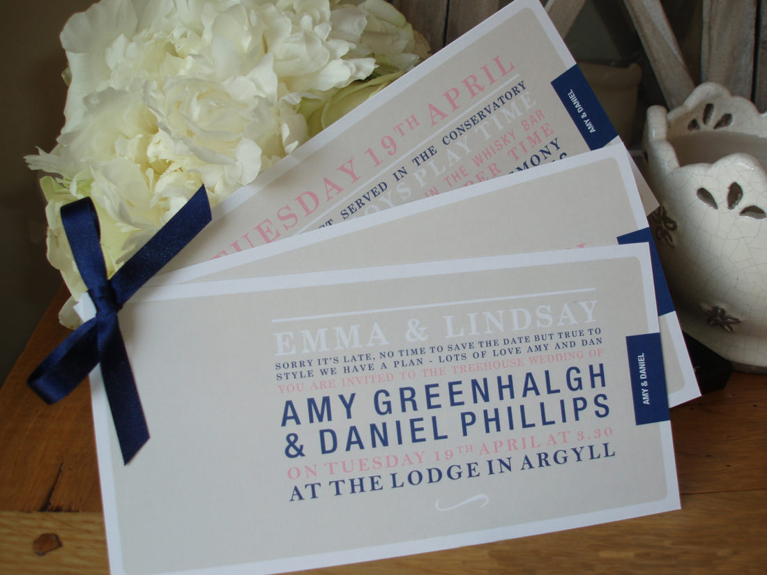 Wedding invites from Figtree Invitations