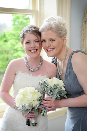 Laura and her best friend and bridesmaid Helen