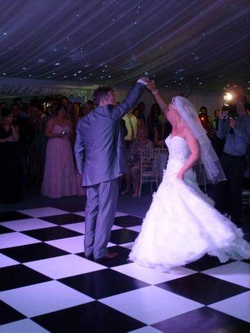 Shottle Hall Marquee bride and groom dancing