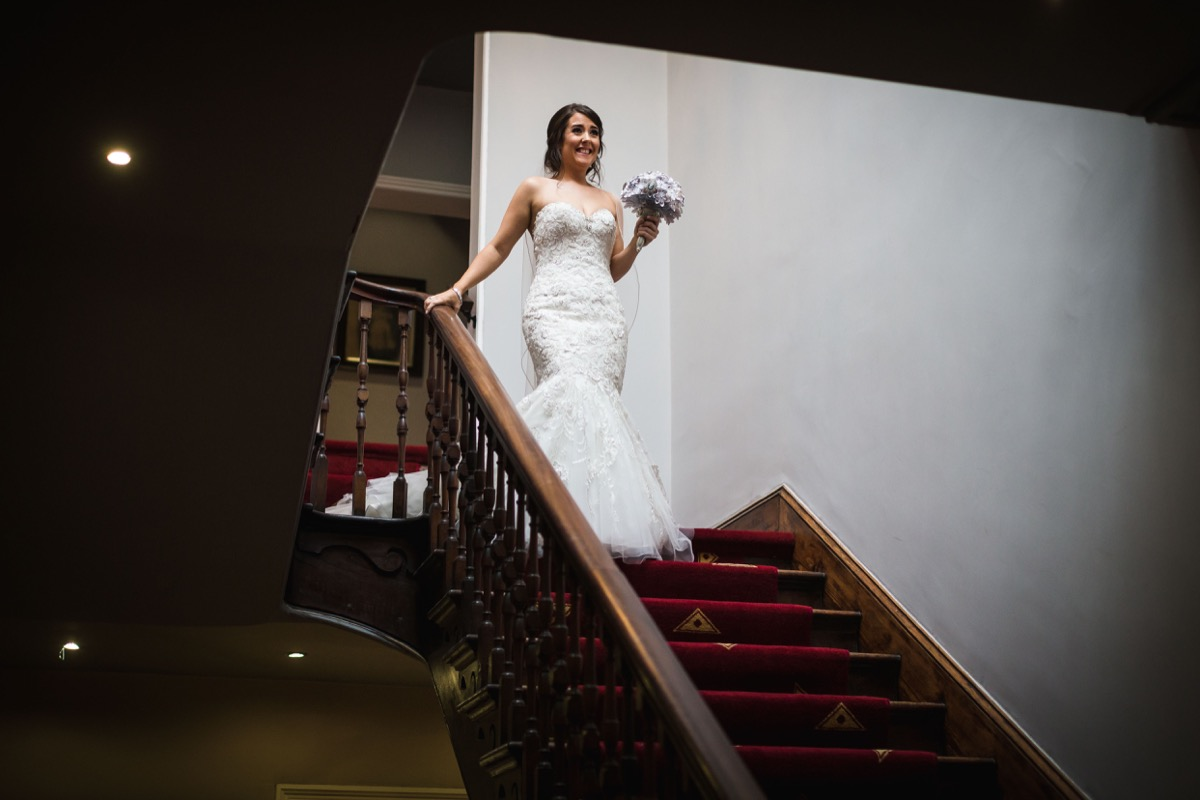 bride at Shottle Hall