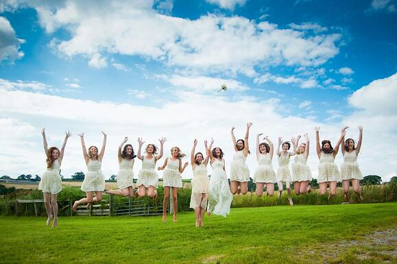 12 bridesmaids at shottle hall