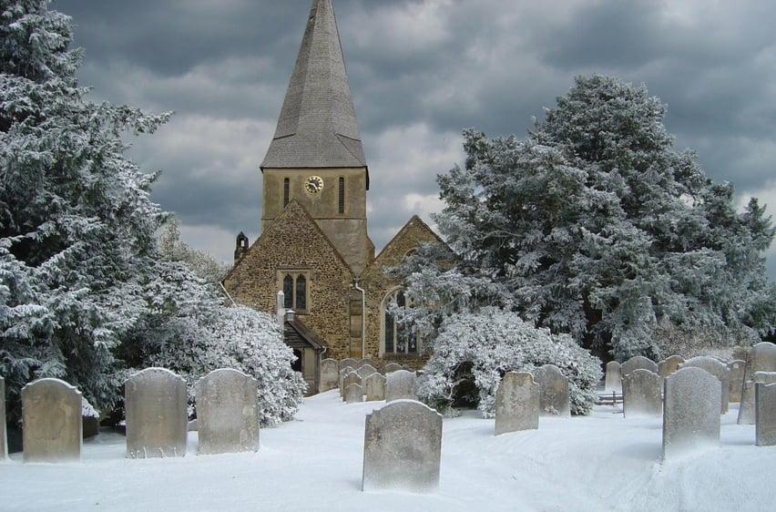 Snow scene from bridget Jones