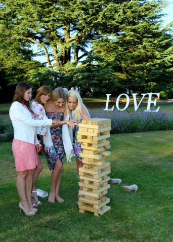giant jenga love background