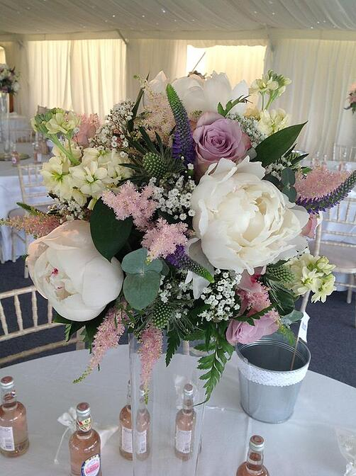 Natural-looking pastel flowers will be popular this year