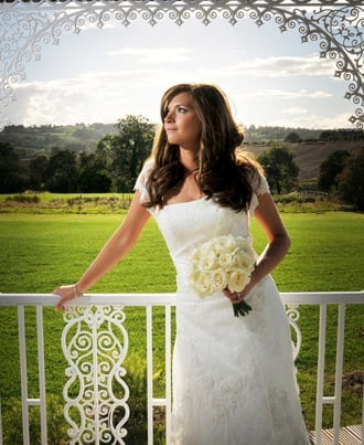 Bride wearing dress from mimi toko derbyshire