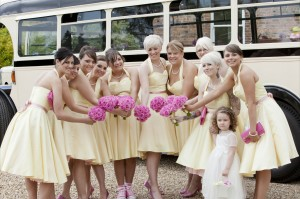 10 bridesmaids outside shottle hall