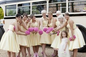 10 bridesmaids outside shottle hall