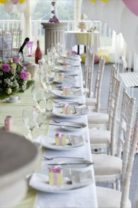 wedding top table marquee