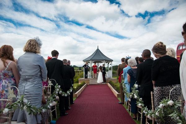 Civil wedding ceremony outside UK