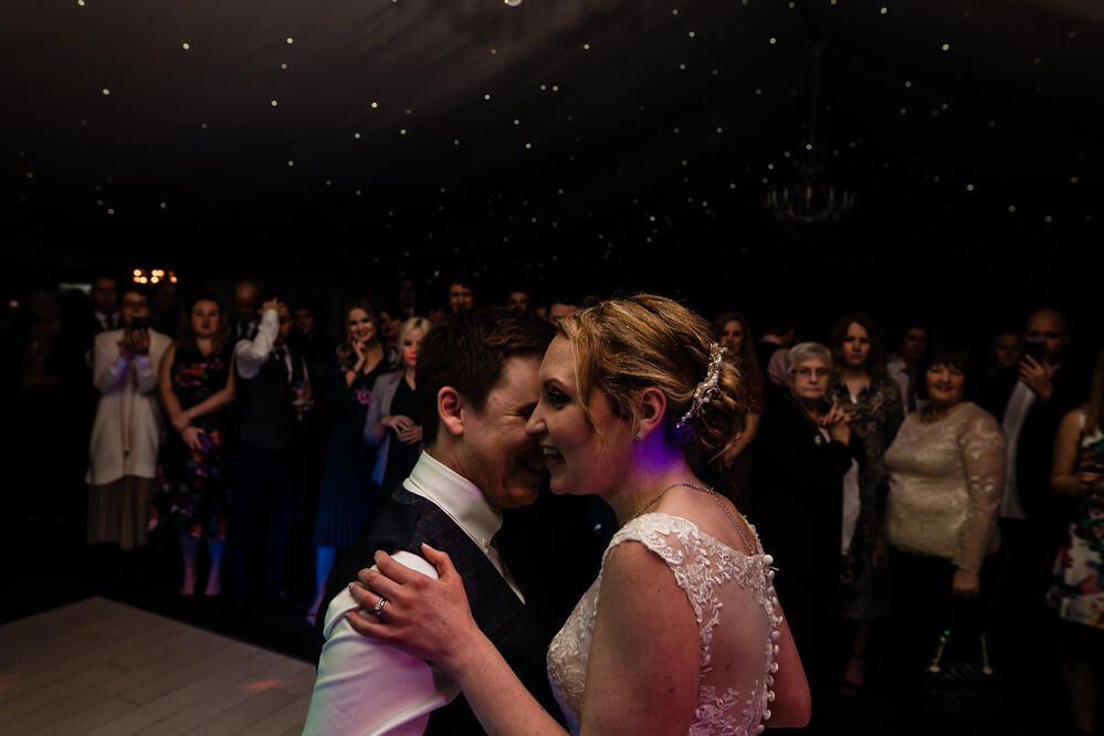 first dance with band shottle hall