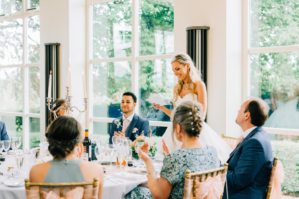 The Wedding Speech Bride