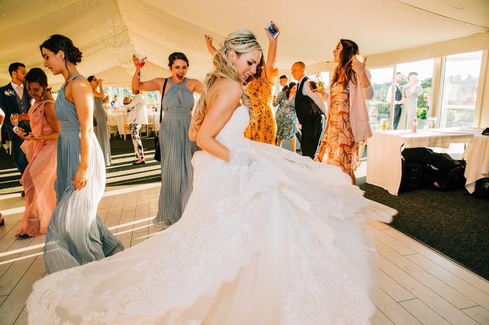bride dancing derbyshire