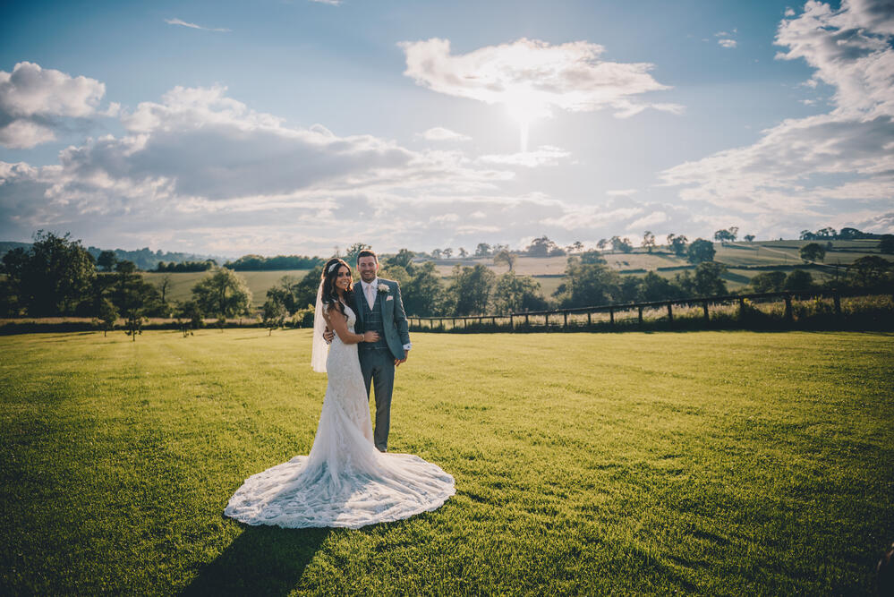 Bride and Groom Shottle Hall