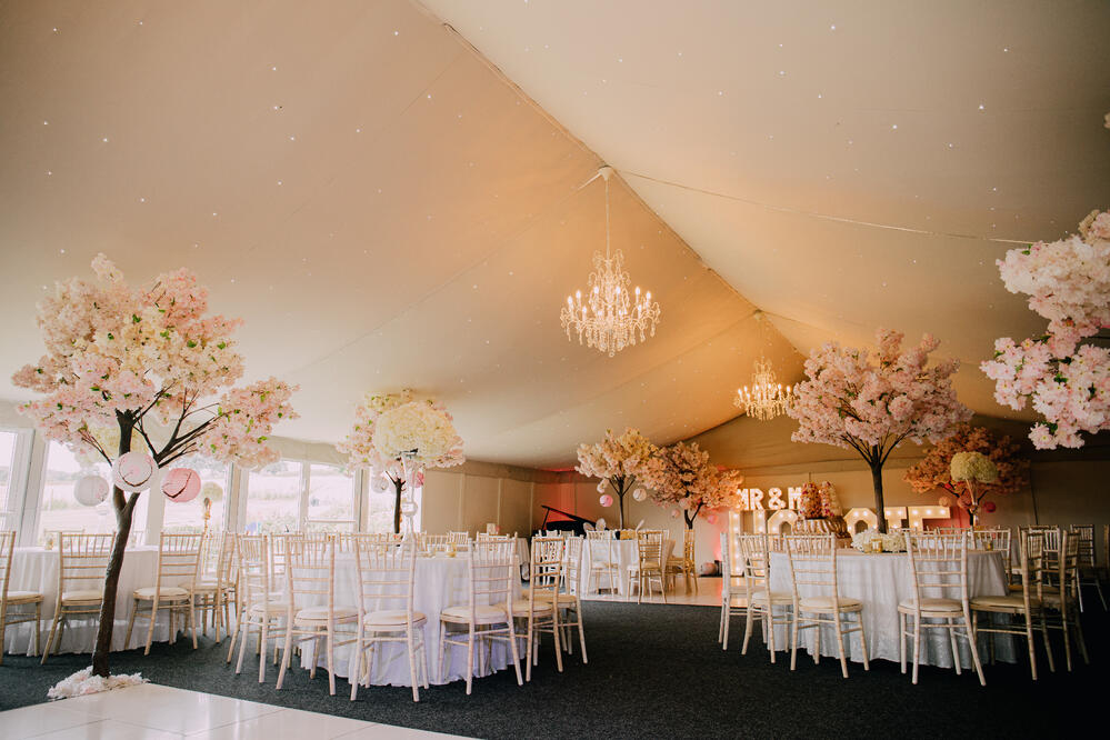 Marquee setup Shottle Hall